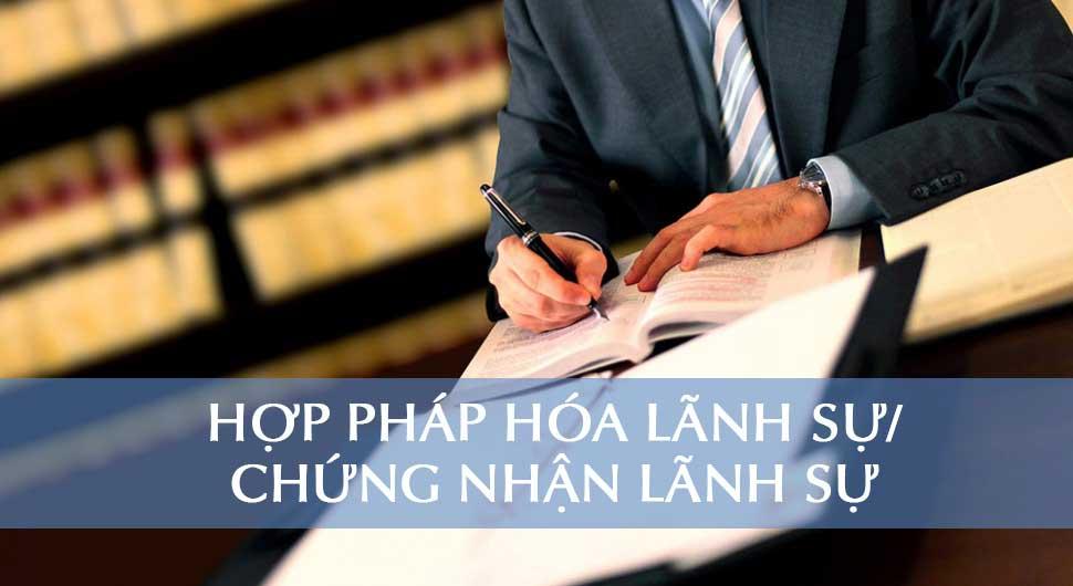 Dịch vụ hợp pháp hóa lãnh