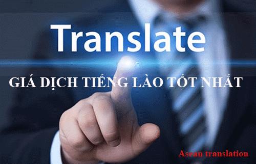 Bảng giá dịch tiếng Lào