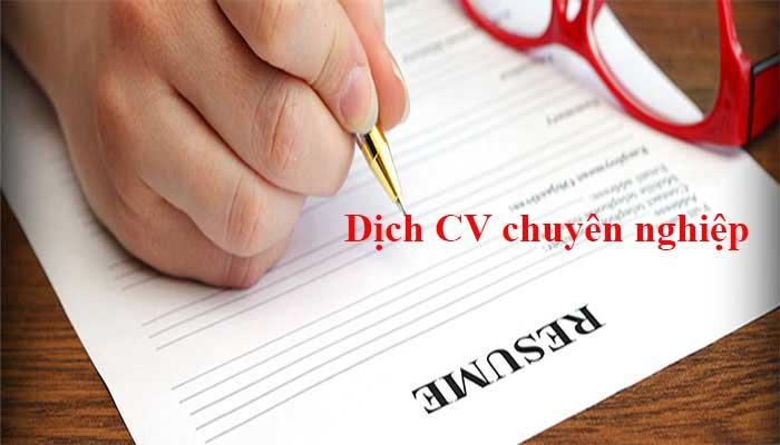 Dịch mẫu CV sang tiếng Nhật