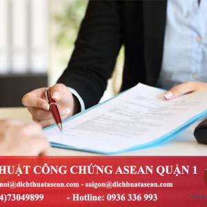 văn phòng dịch thuật công chứng quận 1 Hồ Chí Minh