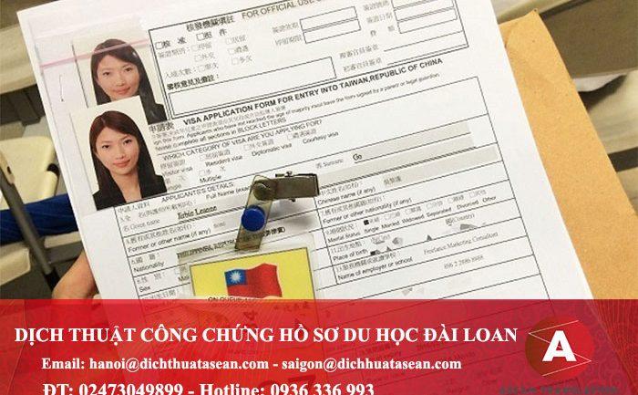 Hồ sơ du học đài loan cần những giấy tờ gì?