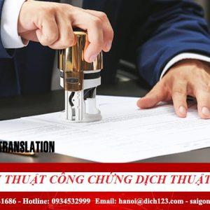 khuyến mại dịch thuật công chứng tại dịch thuật 123